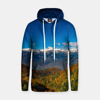 Miniatur Stunning autumn scenery with a view on mountain Triglav, Slovenia Hoodie, Live Heroes