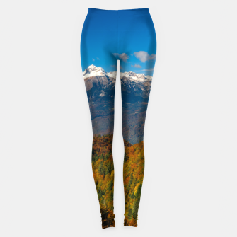 Thumbnail image of Stunning autumn scenery with a view on mountain Triglav, Slovenia Leggings, Live Heroes