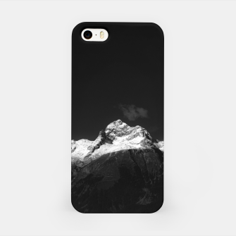 Thumbnail image of Majestic mountain Triglav in black and white iPhone Case, Live Heroes