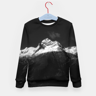 Imagen en miniatura de Majestic mountain Triglav in black and white Kid's sweater, Live Heroes