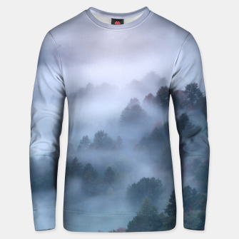 Thumbnail image of Morning fog rolling through trees Unisex sweater, Live Heroes