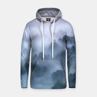 Thumbnail image of Morning fog rolling through trees Hoodie, Live Heroes