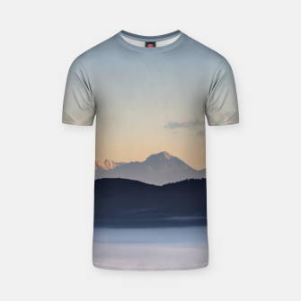 Thumbnail image of Slovenian mountains and morning fog in valley T-shirt, Live Heroes