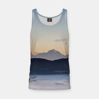 Thumbnail image of Slovenian mountains and morning fog in valley Tank Top, Live Heroes