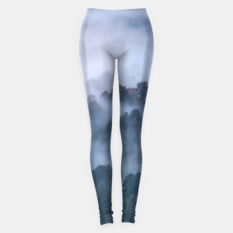 Thumbnail image of Morning fog rolling through trees Leggings, Live Heroes