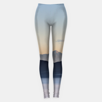 Thumbnail image of Slovenian mountains and morning fog in valley Leggings, Live Heroes