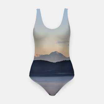 Thumbnail image of Slovenian mountains and morning fog in valley Swimsuit, Live Heroes