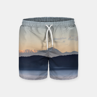 Thumbnail image of Slovenian mountains and morning fog in valley Swim Shorts, Live Heroes