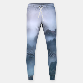 Thumbnail image of Morning fog rolling through trees Sweatpants, Live Heroes