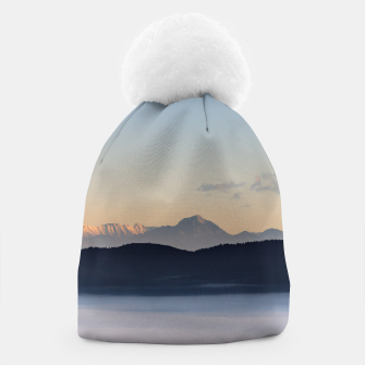 Thumbnail image of Slovenian mountains and morning fog in valley Beanie, Live Heroes