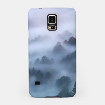 Thumbnail image of Morning fog rolling through trees Samsung Case, Live Heroes