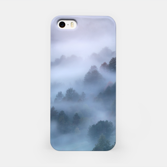 Thumbnail image of Morning fog rolling through trees iPhone Case, Live Heroes