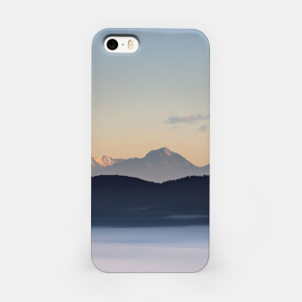 Thumbnail image of Slovenian mountains and morning fog in valley iPhone Case, Live Heroes
