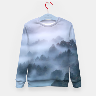 Imagen en miniatura de Morning fog rolling through trees Kid's sweater, Live Heroes
