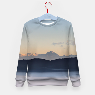Imagen en miniatura de Slovenian mountains and morning fog in valley Kid's sweater, Live Heroes