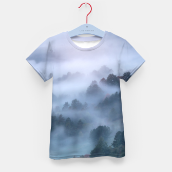 Thumbnail image of Morning fog rolling through trees Kid's t-shirt, Live Heroes