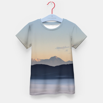 Thumbnail image of Slovenian mountains and morning fog in valley Kid's t-shirt, Live Heroes