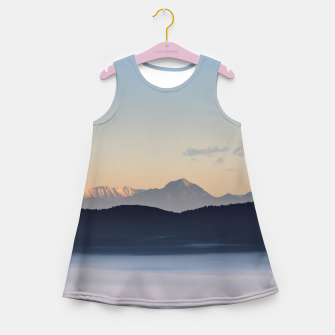 Thumbnail image of Slovenian mountains and morning fog in valley Girl's summer dress, Live Heroes