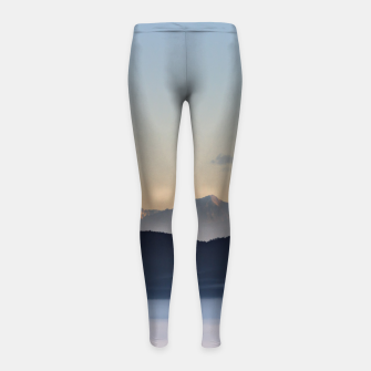 Thumbnail image of Slovenian mountains and morning fog in valley Girl's leggings, Live Heroes