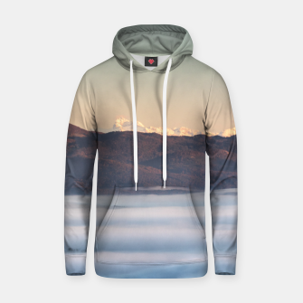 Miniatur Majestic mountain Triglav with fog in valley Hoodie, Live Heroes