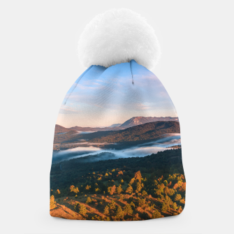 Thumbnail image of Stunning autumn scenery from Šilentabor, Slovenia Beanie, Live Heroes