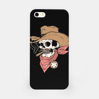 Thumbnail image of Skull Sheriff iPhone Case, Live Heroes