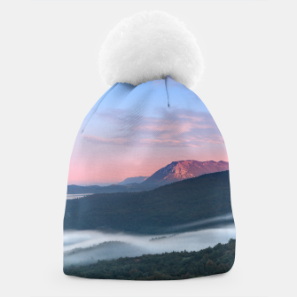 Thumbnail image of Beautiful sunrise view on Nanos from Šilentabor, Slovenia Beanie, Live Heroes