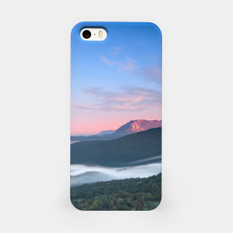Thumbnail image of Beautiful sunrise view on Nanos from Šilentabor, Slovenia iPhone Case, Live Heroes