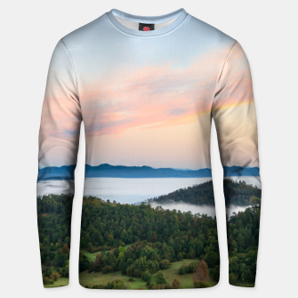 Thumbnail image of Stunning sunrise from Šilentabor, Slovenia Unisex sweater, Live Heroes
