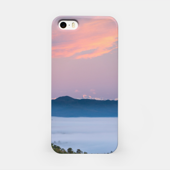 Thumbnail image of Sunrise morning fog in valley Triglav, Slovenia iPhone Case, Live Heroes