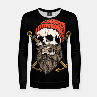 Thumbnail image of Skull Anchor Women sweater, Live Heroes