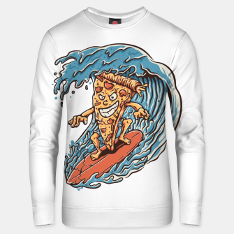 Thumbnail image of Pizza Surfer Unisex sweater, Live Heroes