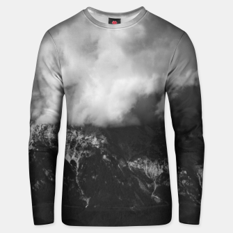 Thumbnail image of Majestic mountain underneath clouds Unisex sweater, Live Heroes