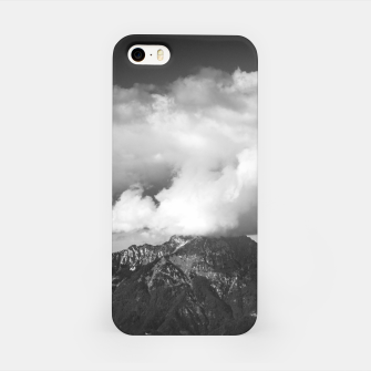 Thumbnail image of Mountain Storžič, Slovenia underneath clouds iPhone Case, Live Heroes