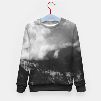 Imagen en miniatura de Majestic mountain underneath clouds Kid's sweater, Live Heroes