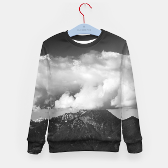 Imagen en miniatura de Mountain Storžič, Slovenia underneath clouds Kid's sweater, Live Heroes