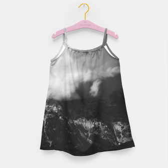Miniatur Majestic mountain underneath clouds Girl's dress, Live Heroes