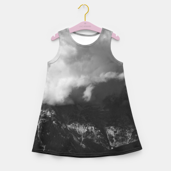Miniaturka Majestic mountain underneath clouds Girl's summer dress, Live Heroes