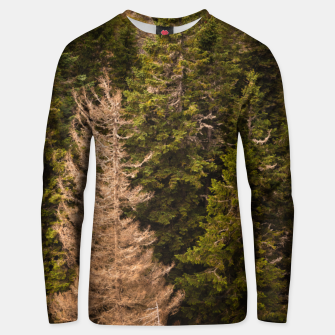 Thumbnail image of Old spruce tree standing proud Unisex sweater, Live Heroes