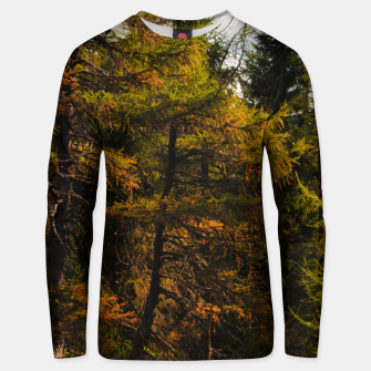 Thumbnail image of Golden European larch in autumn colors Unisex sweater, Live Heroes