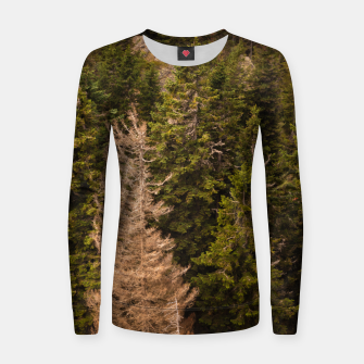 Thumbnail image of Old spruce tree standing proud Women sweater, Live Heroes