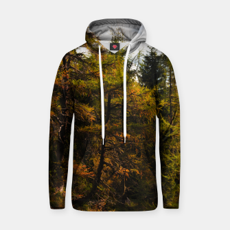 Miniatur Golden European larch in autumn colors Hoodie, Live Heroes
