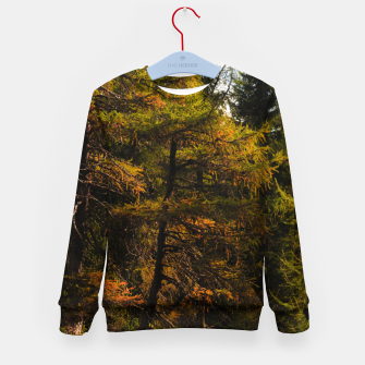 Imagen en miniatura de Golden European larch in autumn colors Kid's sweater, Live Heroes