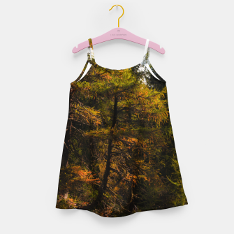 Miniatur Golden European larch in autumn colors Girl's dress, Live Heroes