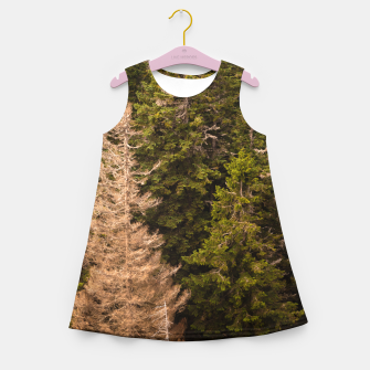 Miniaturka Old spruce tree standing proud Girl's summer dress, Live Heroes
