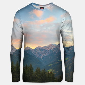 Thumbnail image of Stunning sunrise in Logar valley, Slovenia Unisex sweater, Live Heroes