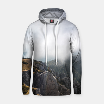 Thumbnail image of Clouds rolling over mountains Hoodie, Live Heroes