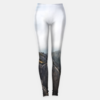 Thumbnail image of Clouds rolling over mountains Leggings, Live Heroes