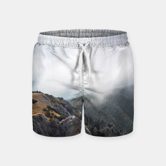 Thumbnail image of Clouds rolling over mountains Swim Shorts, Live Heroes