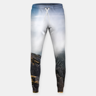 Thumbnail image of Clouds rolling over mountains Sweatpants, Live Heroes